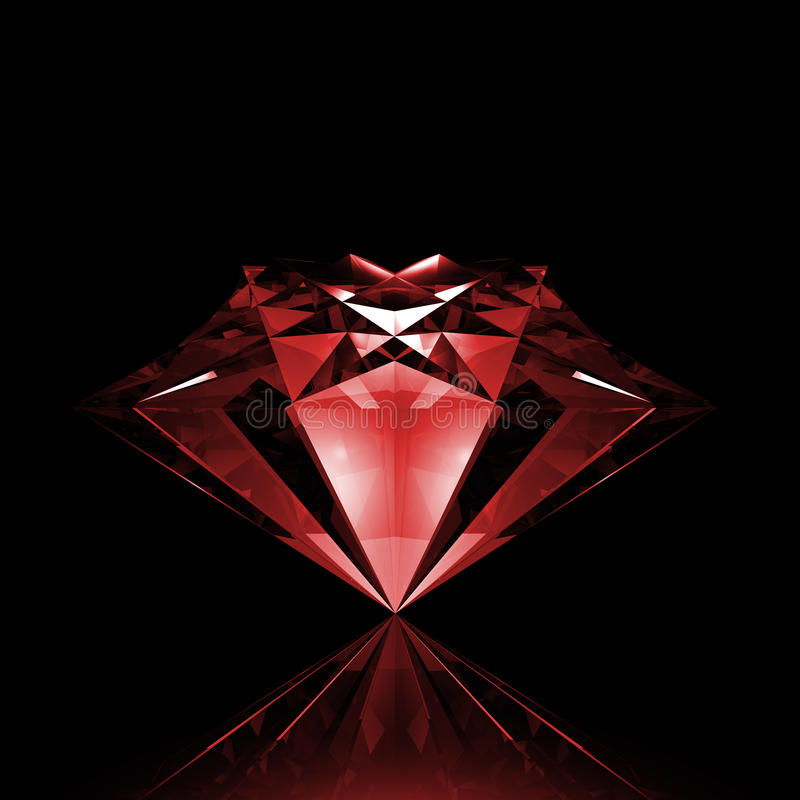 Koele heldere diamant royalty-vrije illustratie