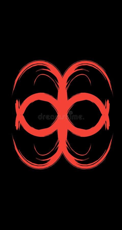 koele het ontwerptekening van de caleidoscoop rode abstracte manier vector illustratie