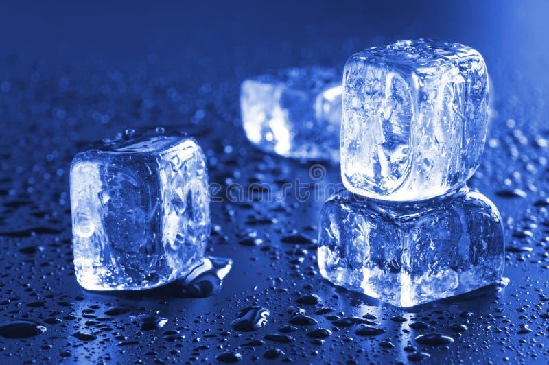 Koele ijsblokjes stock fotografie