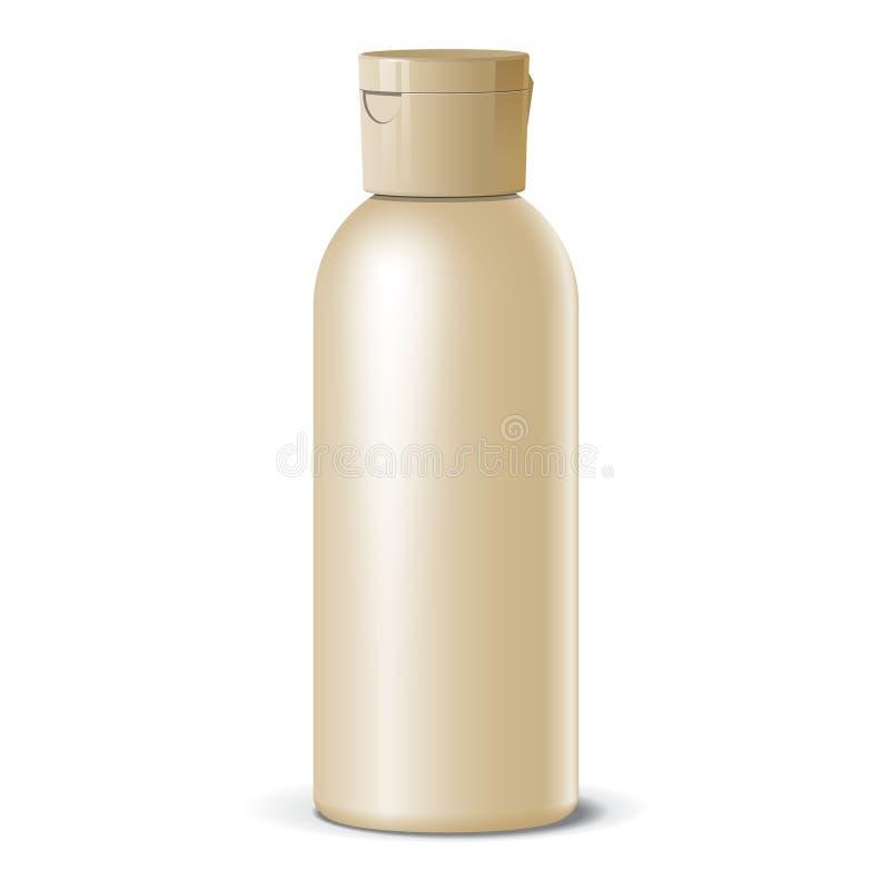 Koele Realistische lege fles. Voor schoonheidsmiddelen. Vector vector illustratie