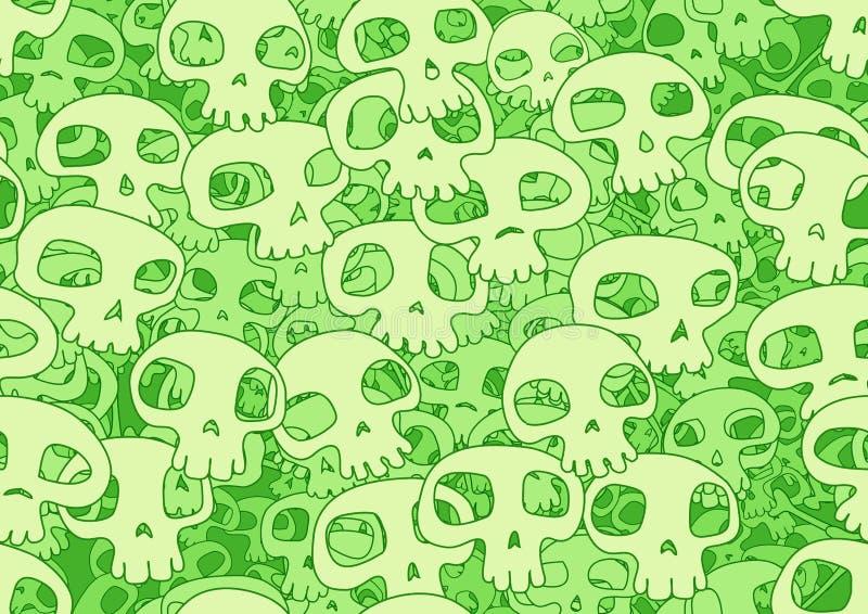 Koele schedels stock illustratie
