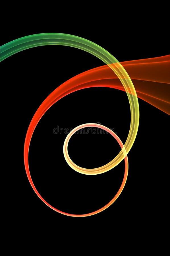 Koele spiraalvormige stroom stock illustratie
