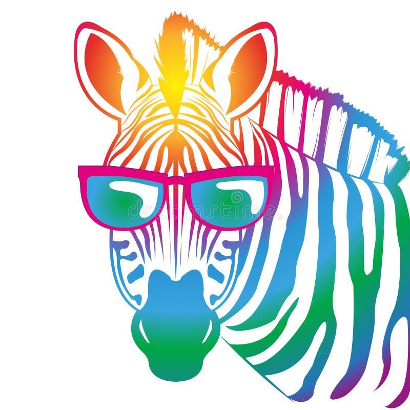 Koele Zebra stock illustratie