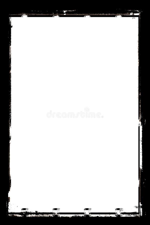 Koele Zwarte Abstracte Fotogrens voor Portretfoto's stock illustratie