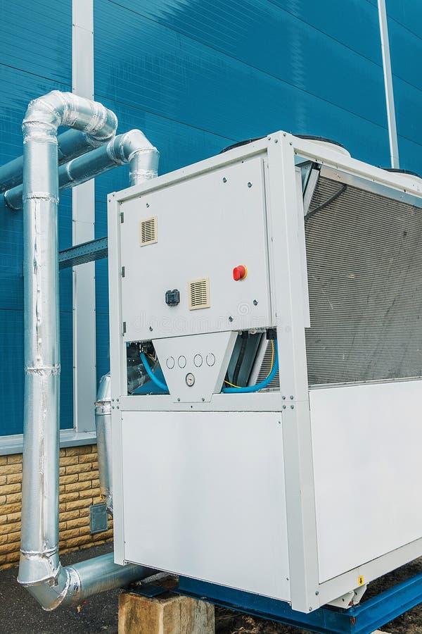 Koeleenheid, koelere, commerciële, industriële ventilatie, airconditioning royalty-vrije stock foto's
