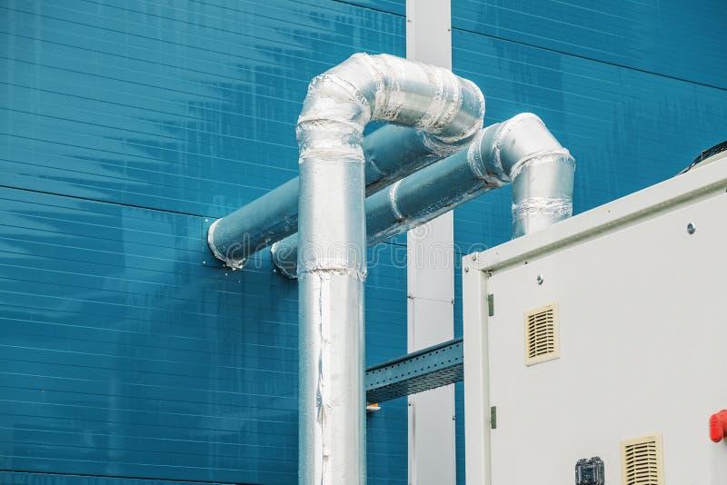 Koeleenheid, koelere, commerciële, industriële ventilatie, airconditioning royalty-vrije stock fotografie