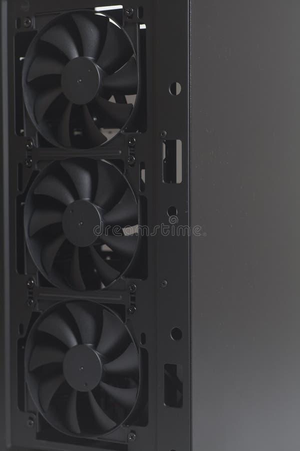 Koelere Ventilator binnen PC van het Bureaucomputergeval stock afbeelding