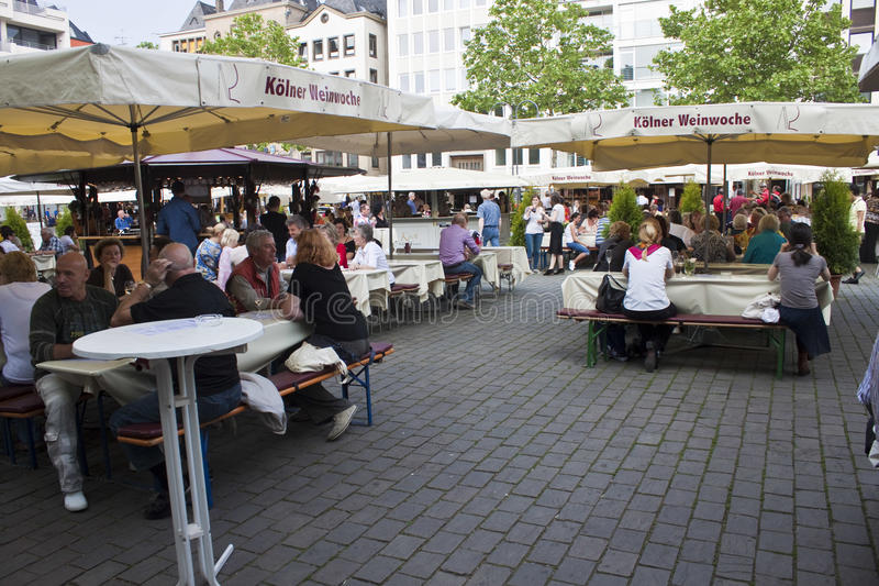 Koelner Weinwoche (科隆酒星期) 库存照片