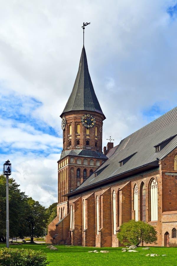 Koenigsbergkathedraal - Gotische tempel van de 14de eeuw. Kaliningrad, Rusland royalty-vrije stock fotografie