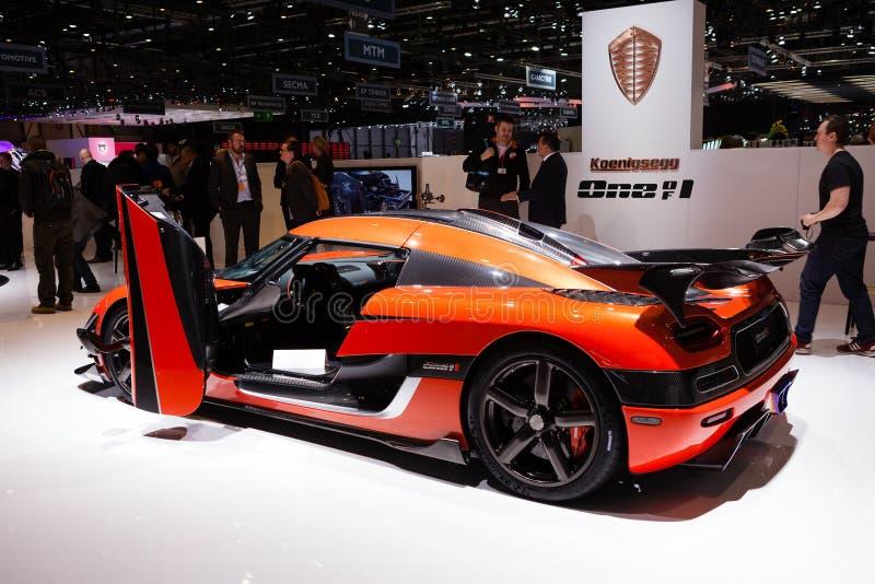 Koenigsegg un à Genève photos libres de droits