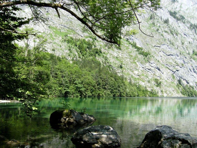 Koenigssee的上部海在巴伐利亚 免版税库存图片