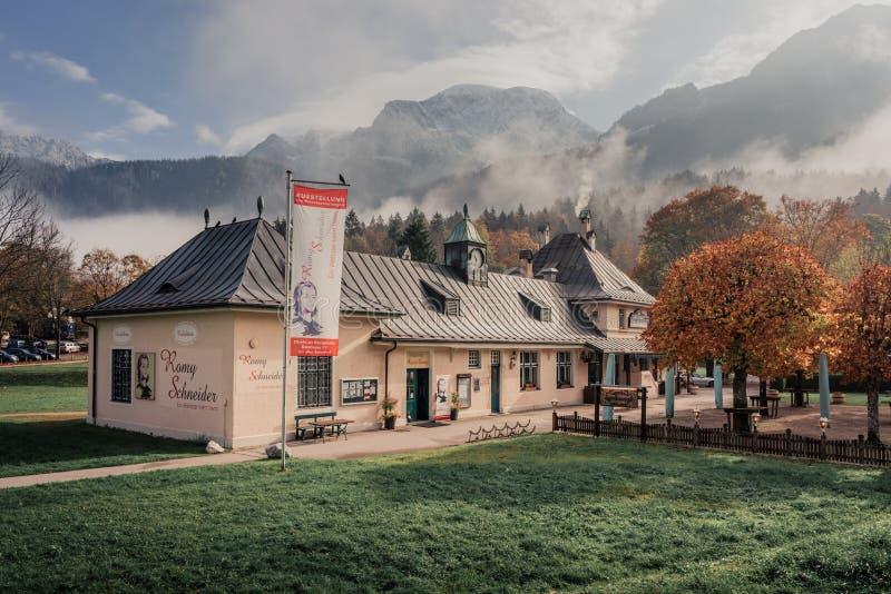 Koenigssee, Alemanha Construção da exposição fotografia de stock