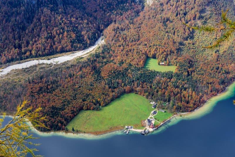 Koenigssee em Berchtesgaden foto de stock