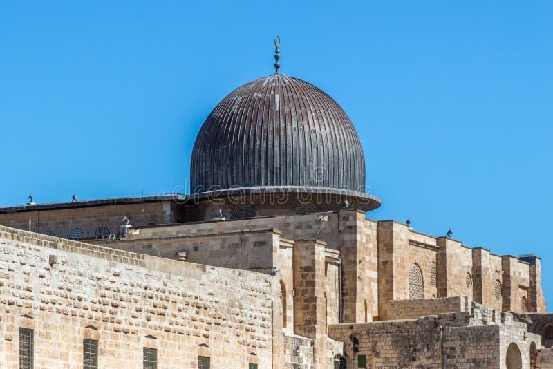 Koepel van Al Aqsa Mosque in Jeruzalem, Israël stock afbeelding