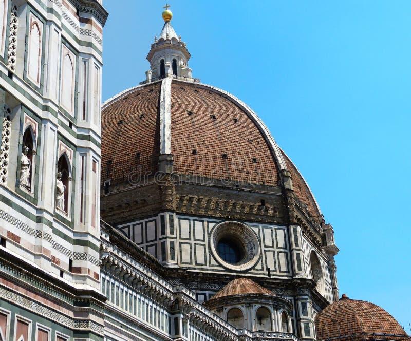 Koepel van brunelleschi in Florence stock foto
