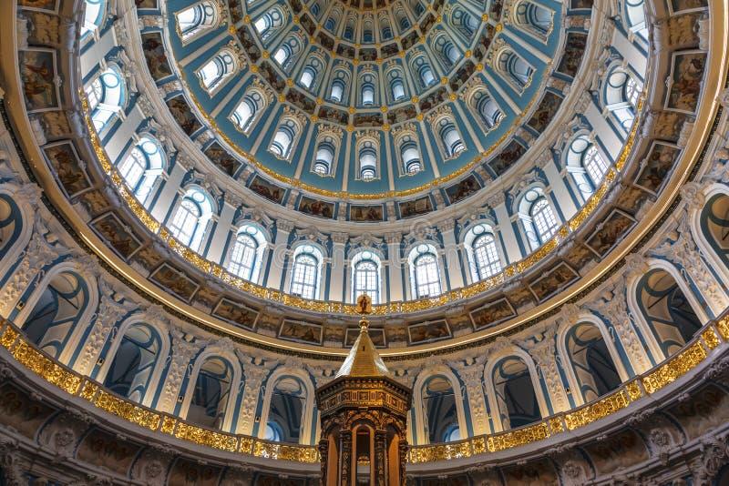 Koepel van de Kathedraal van het Klooster van Jeruzalem van de Verrijzenisverrijzenis Nieuwe, Istra, het gebied van Moskou, stock afbeelding