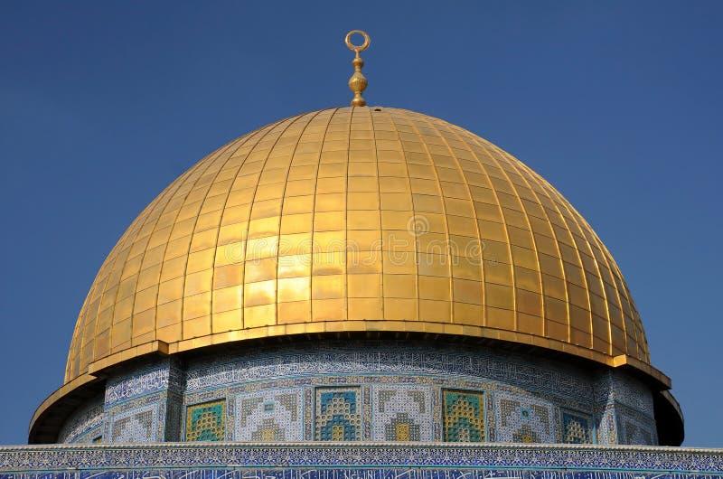 Koepel van de Moskee van de Rots in Jeruzalem royalty-vrije stock foto