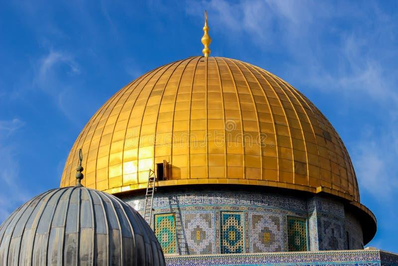 Koepel van de Rots in Jeruzalem stock fotografie