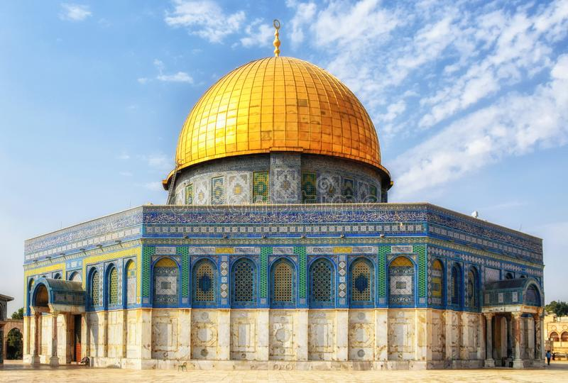 Koepel van de Rots, Qubbat al-Sakhrah, Jeruzalem, Isra?l royalty-vrije stock afbeeldingen