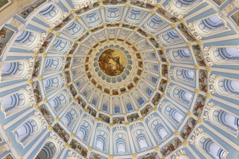 Koepel van de verrijzeniskathedraal van het nieuwe klooster van Jeruzalem, het gebied van Moskou stock afbeelding