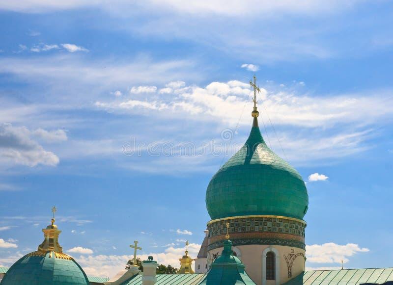 Koepel van het Nieuwe Klooster van Jeruzalem Istra Het gebied van Moskou stock foto's