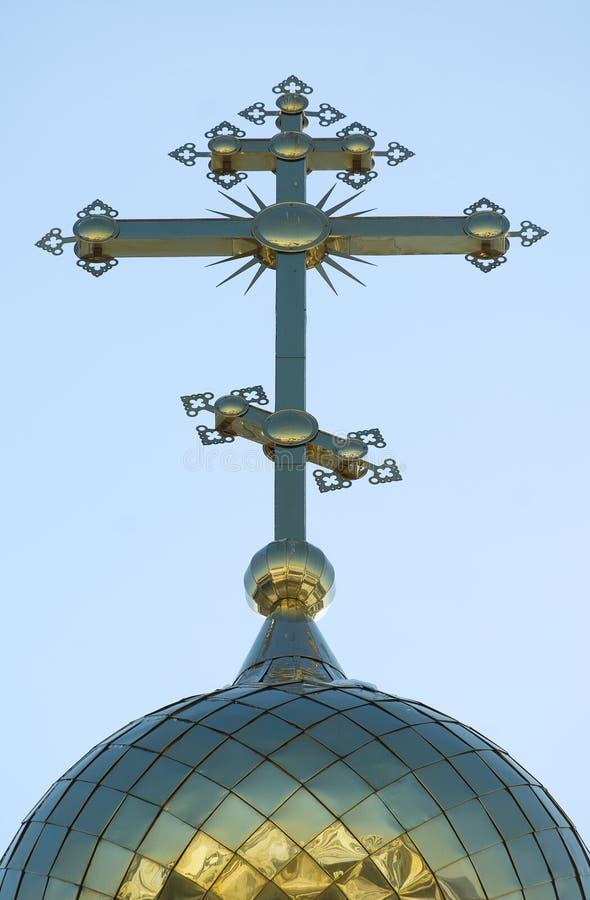 Koepel van Kerk van het Heilig Martelarengeloof, de Hoop, de Liefdadigheid en Th royalty-vrije stock afbeeldingen