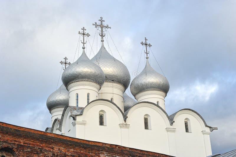 Koepel van Orthodoxe St Sophia Cathedral stock afbeeldingen