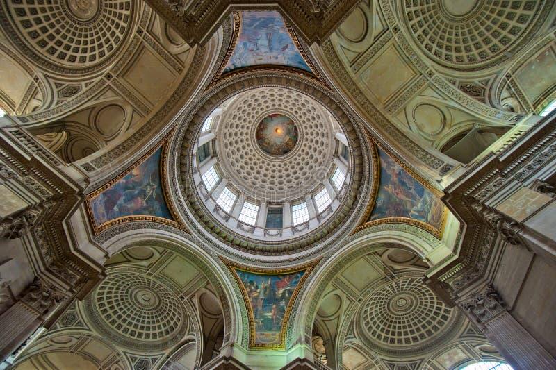 Koepel van Pantheon, Parijs, Frankrijk royalty-vrije stock afbeeldingen