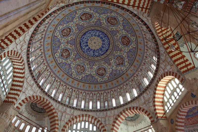 Koepel van Selimiye Moskee, Edirne. royalty-vrije stock foto's