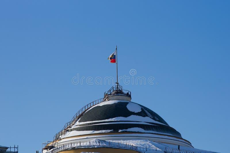 Koepel van Senaat de bouw van Moskou het Kremlin royalty-vrije stock foto's