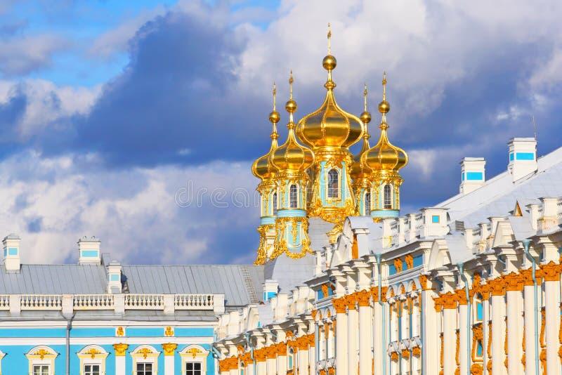 Koepel van Yekaterinksy-Paleis.  St. Petersburg royalty-vrije stock foto