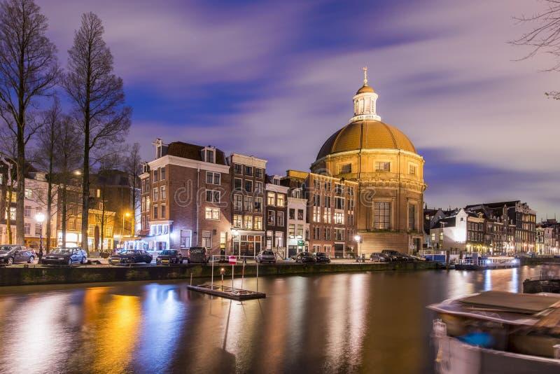 Koepelkerk à Amsterdam photo stock