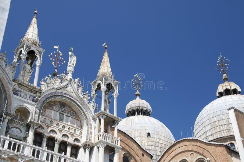 Koepels van Basiliek San Marco, Venetië royalty-vrije stock afbeelding