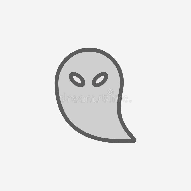 koercji pola konturu ikona Element 2 kolorów prosta ikona Cienka kreskowa ikona dla strona internetowa projekta i rozwoju, app ro royalty ilustracja