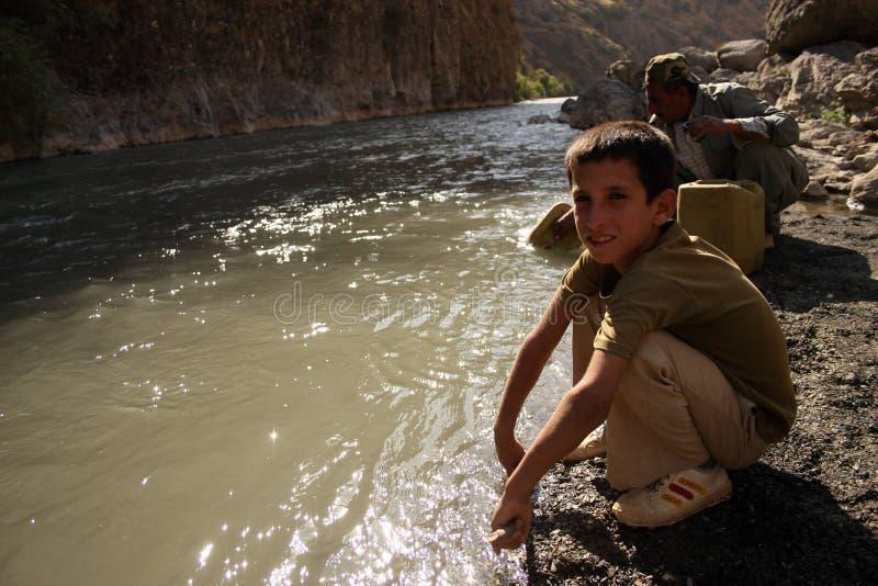 Koerdisch Kind royalty-vrije stock foto's