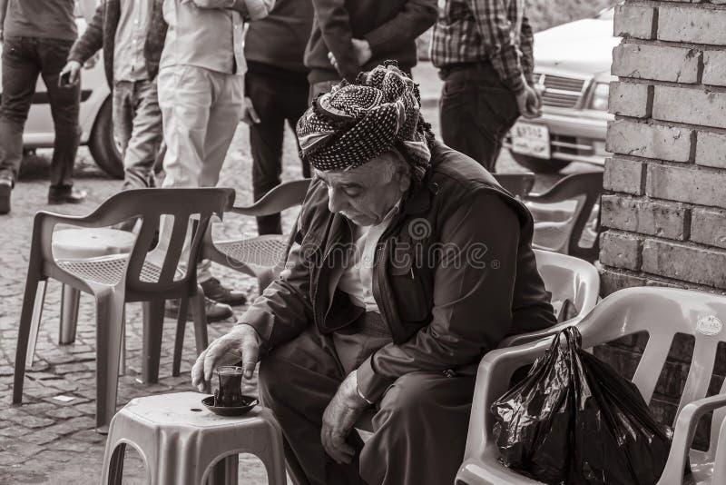 Koerdische oude mens royalty-vrije stock foto