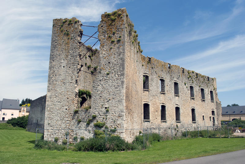 Koerich castle, Luxemburg stock images