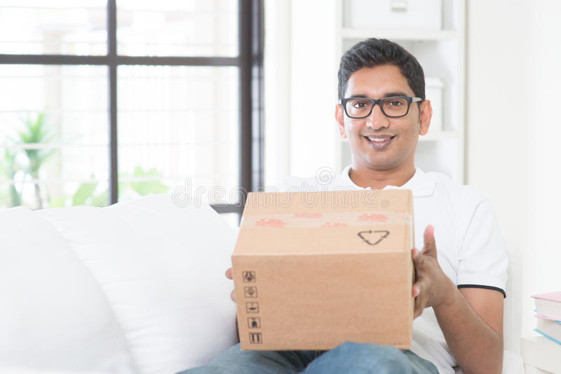 Koerier Delivery royalty-vrije stock fotografie