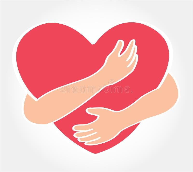 Koester het hart, liefde zelf symbool royalty-vrije illustratie