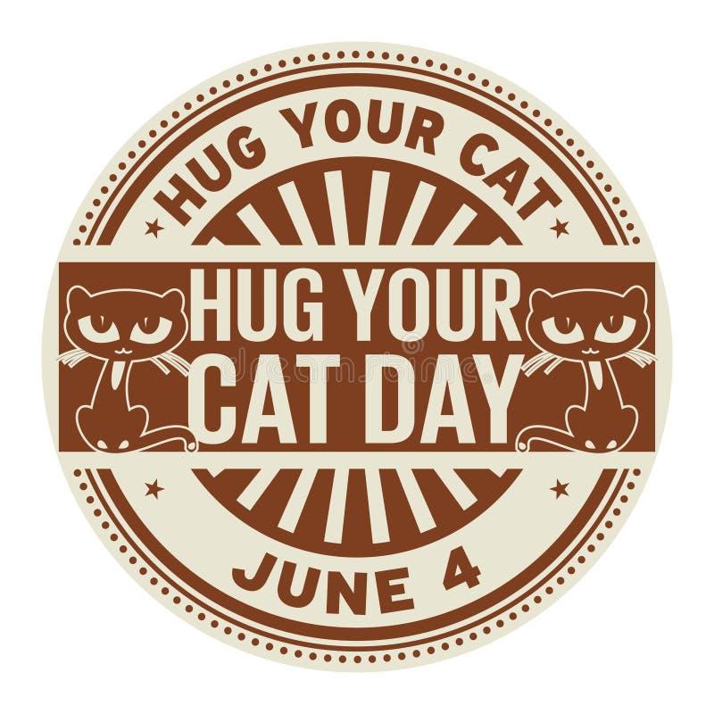 Koester Uw Cat Day-zegel royalty-vrije illustratie