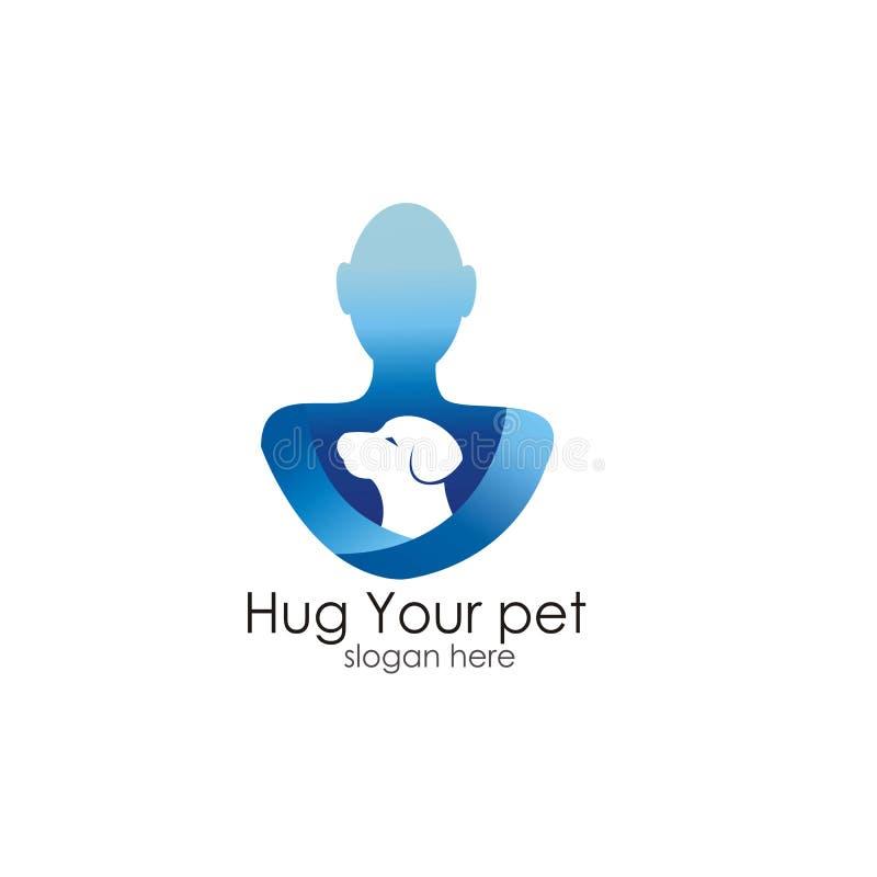 Koester uw ontwerp van het huisdierenembleem stock illustratie