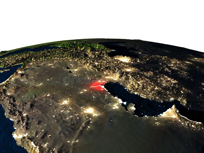 Koeweit van ruimte bij nacht vector illustratie