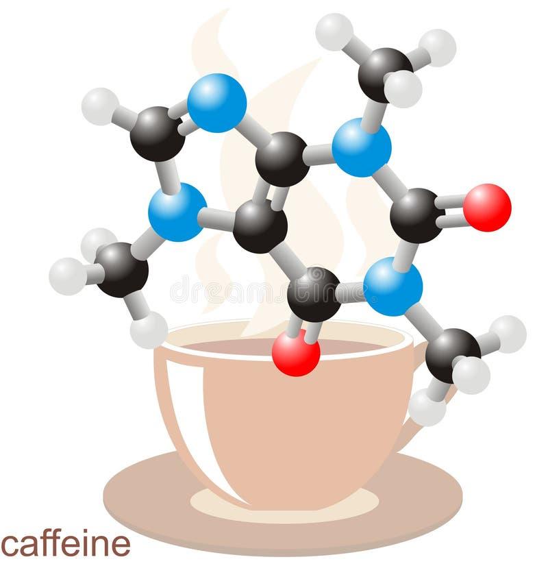 kofeiny filiżanki molekuła royalty ilustracja
