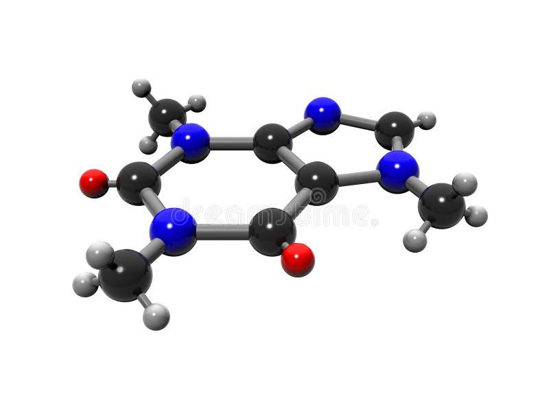 koffeinmolekyl vektor illustrationer