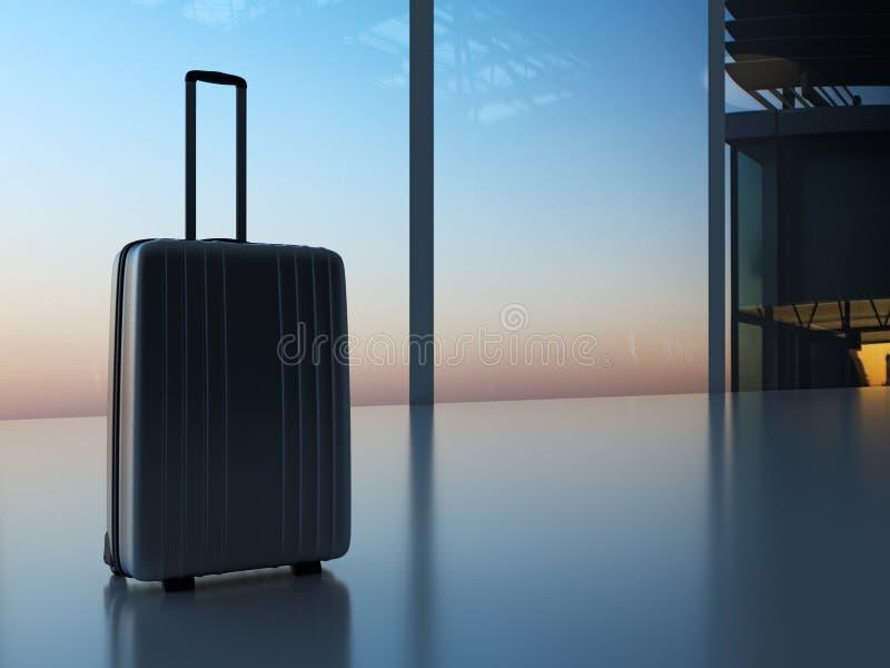 Koffer in de luchthaven stock foto