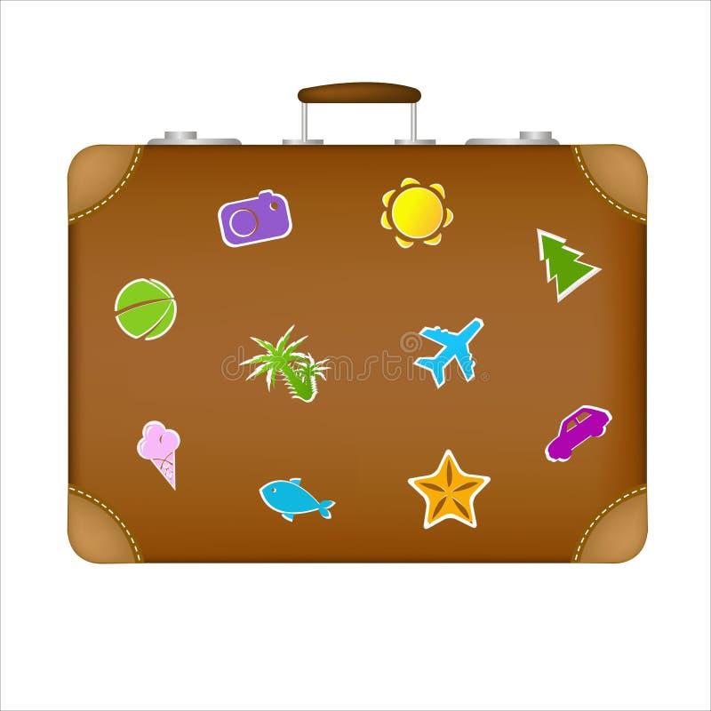 Koffer für Reise vektor abbildung