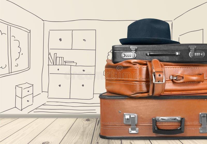 Koffer-Gepäck stockfoto