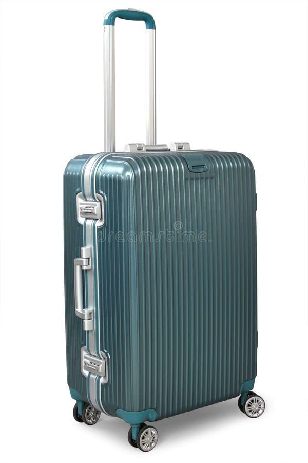 Koffer getrennt auf Weiß stockbilder