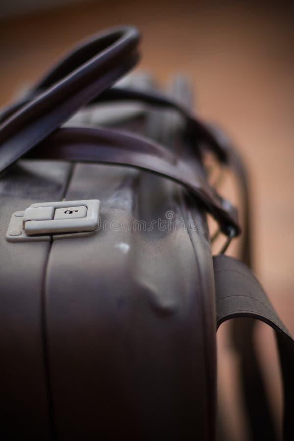 Koffer met dist stock afbeelding