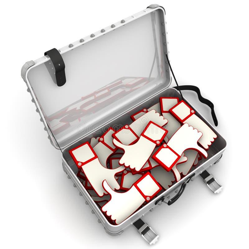 Koffer met overzichten vector illustratie